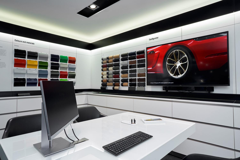 Porsche Showroom - Adam Hillier Commercial Photography